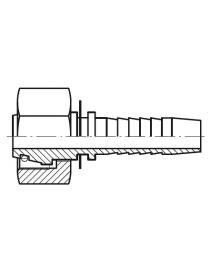 Hembra giratoria métrica inox