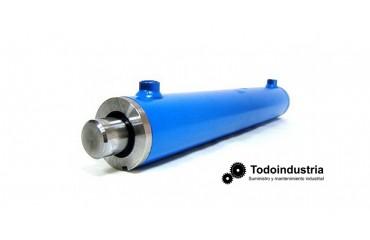 ¿Cuáles son las partes de un cilindro hidráulico?