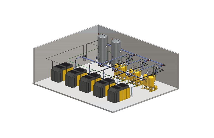 ¿Cómo funciona un sistema de aire comprimido?